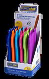 Ручка масляная автоматическая HOLLY TOUCH, RUBBER TOUCH, 0,7 мм, синие чернила BM.8271, фото 2