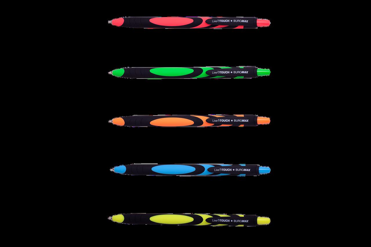 Ручка кулькова OPTIMA HYPE 0,7 мм. Корпус блакитний, пише синім (O15687)