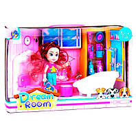Кукла с аксессуарами Kimi 16 см Розово-бирюзовая 6983718400024