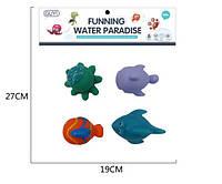 Іграшка G-B008 для купання, морські тварини, 4шт., кул., 19-22-6см.
