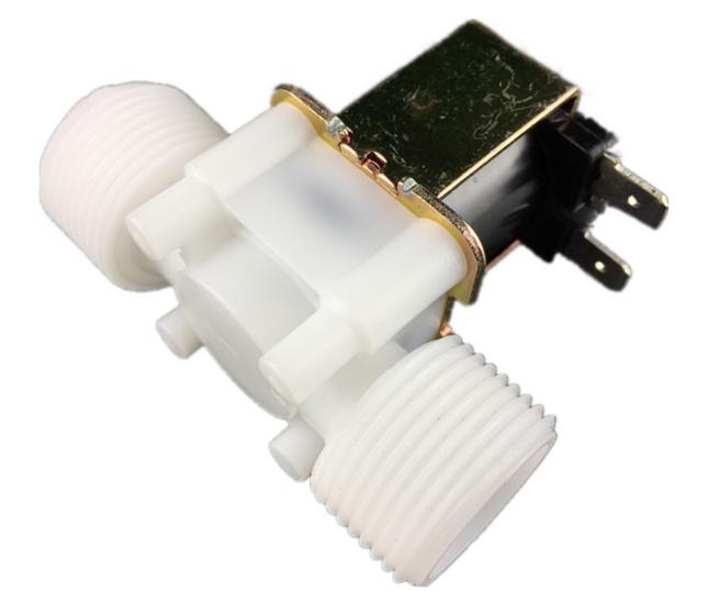 Водяной электромагнитный клапан для води или прочих жидкостей, нормал открытый, с резьбой 3/4, питание DC12V