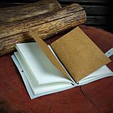 Шкіряний блокнот у подарунковій коробці, Блокнот ручної роботи з квітами, фото 8