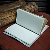 Шкіряний блокнот у подарунковій коробці, Блокнот ручної роботи з квітами, фото 9