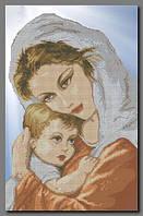 """Схема для частичной вышивки бисером """"Мама и ребенок"""""""