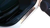 Накладки на пороги OmsaLine (2 шт, нерж.) для Fiat Fiorino/Qubo 2008↗ гг.