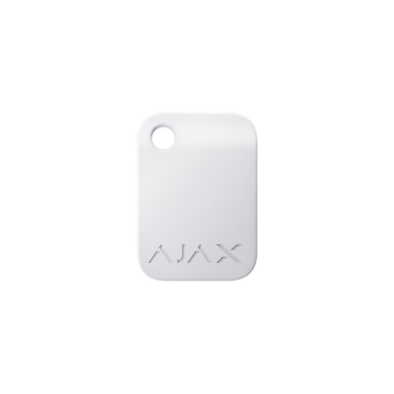 Брелок для управления охранной системой Ajax Tag белый 3 шт.