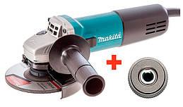 Угловая шлифовальная машина Makita 9558HNG + быстрозажимная гайка 9558HNGQ ZZ, КОД: 2403121