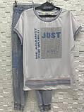 Жіночий літній костюм з джинсами *Cignet* (Туреччина); розм 48,50,52,54,56., фото 2