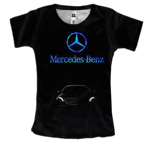 Женская 3D футболка Mercedes-Benz S-Class
