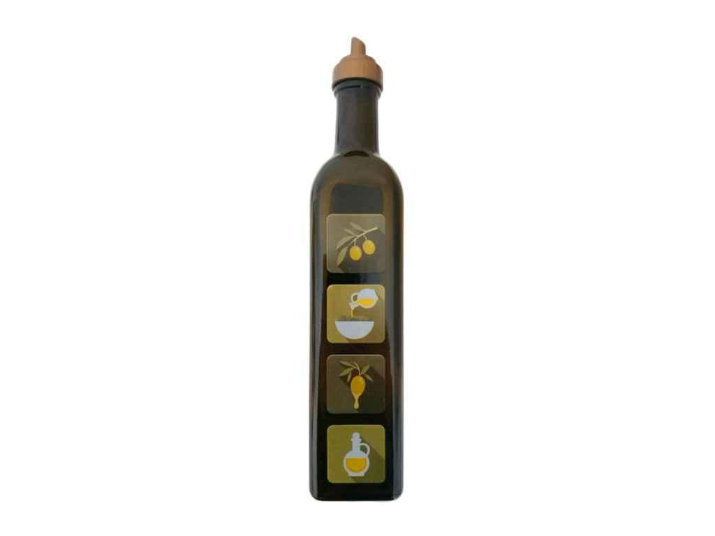 Пляшка для олії 0,5л. Мaraska з дозатором (декорована) (6шт) ТМ EVERGLASS