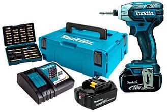 Аккумуляторный ударный шуруповерт Makita DTS141RTJ1 + 2 акб 18 V 5 Ah + з у DC18RC + набор ос ES, КОД: 2367625