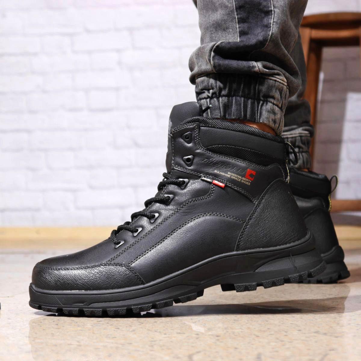 Зимние мужские ботинки 31881, Gorgeous (на меху, в коробке), черные [ 43 45 ] р.(42-27,5см)