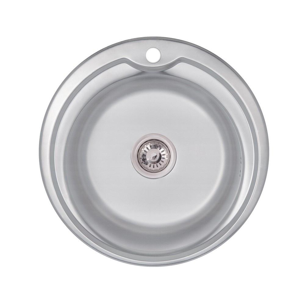 Кухонна мийка Lidz 510-D 0,6 мм Decor (LIDZ510D06DEC160)