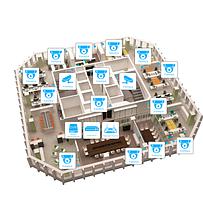 IP видеонаблюдение 16 камер (2Мп) для офиса