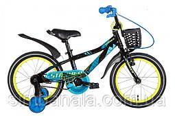 """Велосипед 16"""" Formula STORMER 2021 (чорно-синій з жовтим)"""