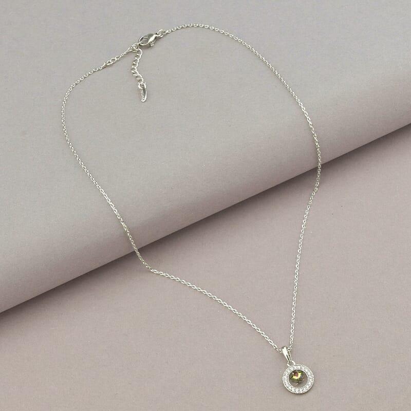Подвеска на шею медицинское золото Xuping Jewelry  Jewelry Swarovski 40 см  покрытие родиевое