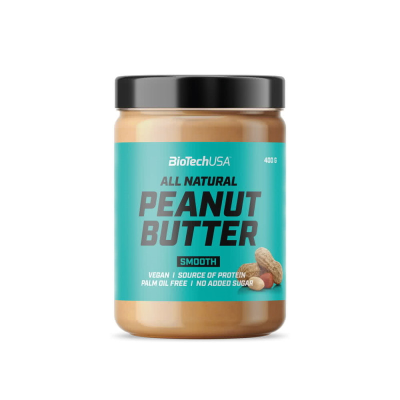 Заменитель питания BioTech Peanut Butter, 400 грамм - Smooth