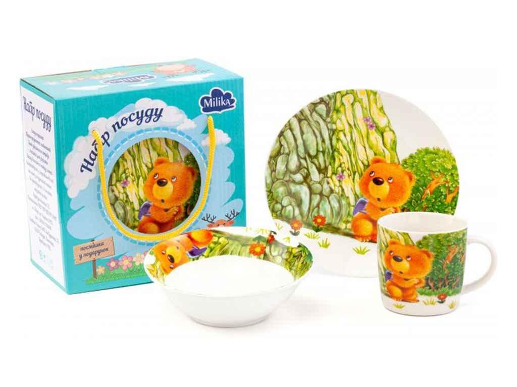 Набор детской посуды Milika Teddy Traveler 3 предмета
