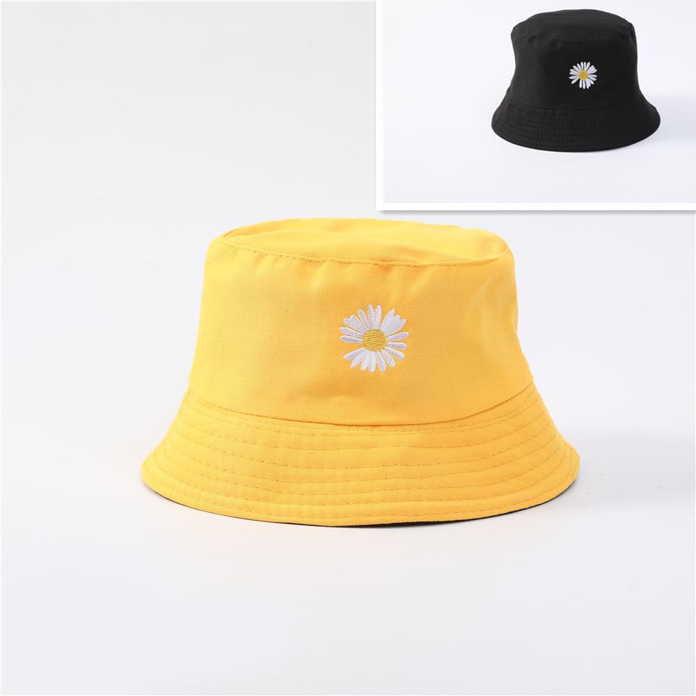 Панама двухсторонняя летняя 2021, цвет черный - Желтый