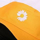 Панама двухсторонняя летняя 2021, цвет черный - Желтый, фото 6