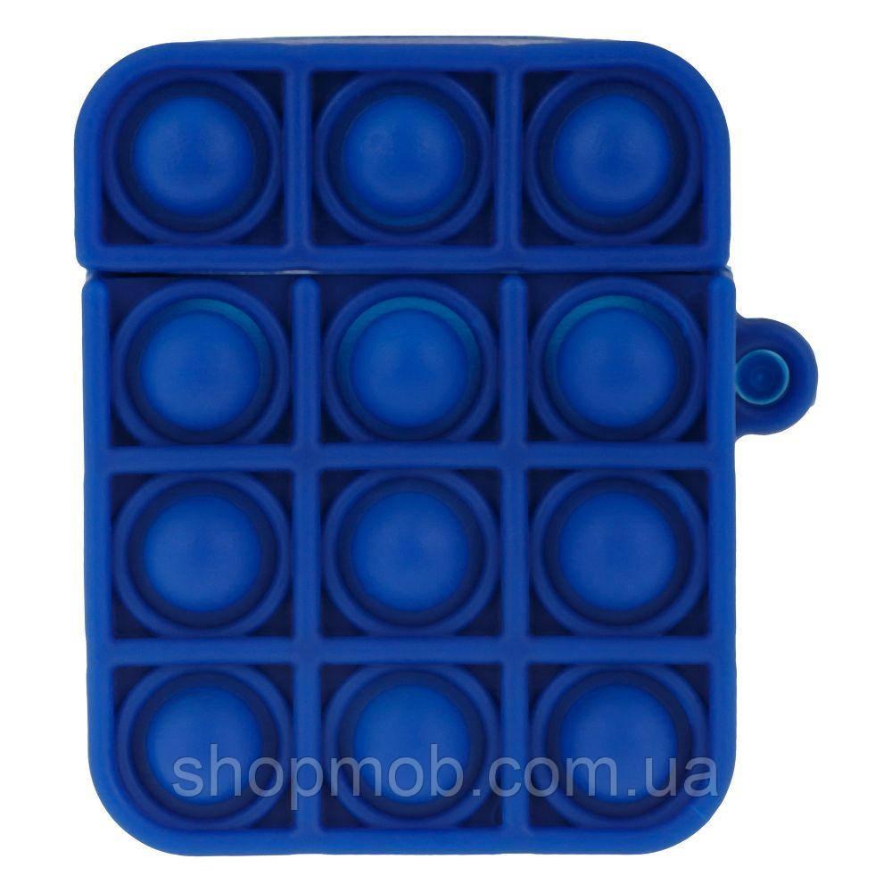 Футляр для наушников Airpod 1/2 Antistress Цвет 4, Тёмно-синий