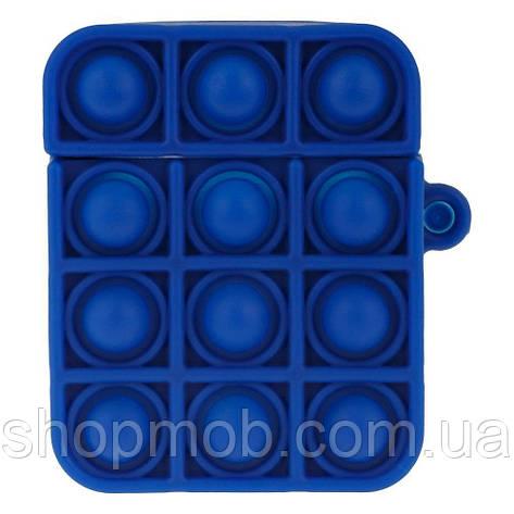 Футляр для наушников Airpod 1/2 Antistress Цвет 4, Тёмно-синий, фото 2