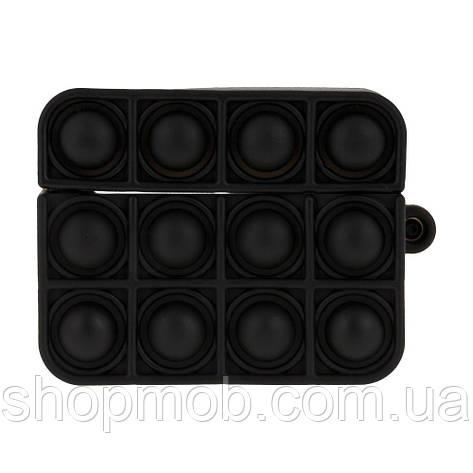 Футляр для навушників Airpod Pro Antistress Колір 1, Чорний, фото 2