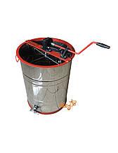 Нержавеющая  медогонка с поворотом кассет 4-х рамочная  под «Рутовскую» рамку