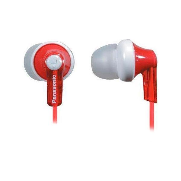 Навушники вакуумні дротові без мікрофона Panasonic RP-HJE118GU-R Red