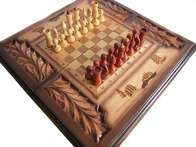 шахматы деревянныерезные шахматышахматы ручной работы цена 1 800