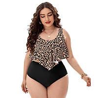 Женские красивые купальники большого размера, раздельный модный купальник с вкладышами