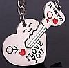 Парные брелоки - Ключ от сердца
