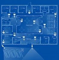Видеонаблюдение AHD 2Мп 16 камер для офиса