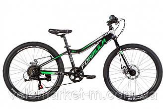 """Велосипед 24"""" FORMULA ACID DD 2021 черно-зеленый с серым"""