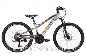 """Велосипед 24"""" FORMULA BLACKWOOD 1.0 2021 серо-оранжевый с черным"""