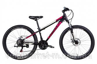 """Велосипед 26"""" Formula MOTION 13"""" 2021 черно-фиолетовый с бежевым"""