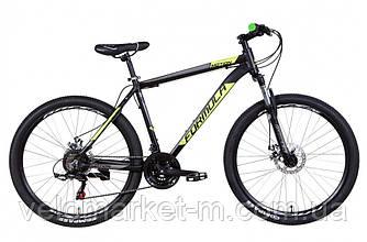 """Велосипед 26"""" Formula MOTION 13"""" 2021 черно-зеленый с серым"""