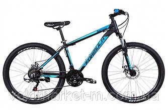 """Велосипед 26"""" Formula MOTION 13"""" 2021 черно-синий с голубым"""