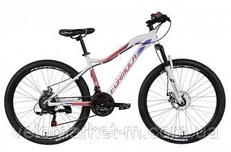 """Велосипед 27.5"""" Formula MYSTIQUE 17.5"""" 2021 бело-фиолетовый с малиновым"""