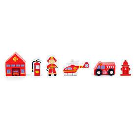 Набір для залізниці Viga Toys Пожежна станція (50815)