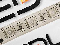 Світлодіодна гнучкий стрічка 15 діодів 5050-12V жовтий 25см