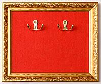 Ключница на 4 ключа багетная золотая 28х23 см, фото 1