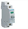 Вимикач кнопковий з зеленим індикатором 230В/16А, 1НВ, 1м SVN413