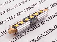 Світлодіодна авто лампа S85-39mm-6smd 2835 обманка білий 12V