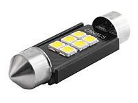 Світлодіодна авто лампа S85-39mm-6smd 3020 обманка 12-24V білий