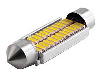 Світлодіодна авто лампа S85-41mm-24smd 3014 обманка білий 12V