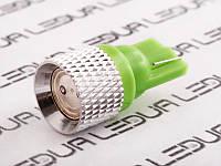 Світлодіодна авто лампа T10-0.5 W high power зелений 12V