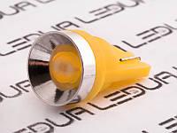 Світлодіодна авто лампа T10-1.5 W жовтий 12V