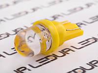 Світлодіодна авто лампа T10-1pc-круглий LED жовтий 24V