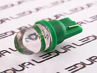 Світлодіодна авто лампа T10-1pc-круглий зелений LED 24V